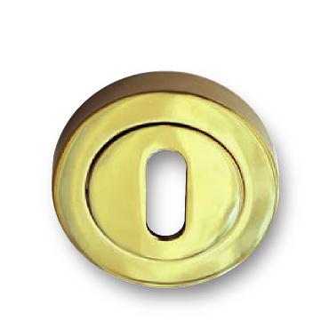 Bocallave oval de zamak en dorado