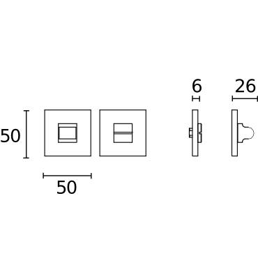 Cierre de baño con roseta cuadrada serie Square de Formani