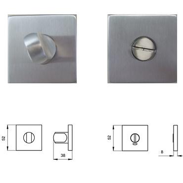 Cierre de baño con condena cuadrado Basic Square