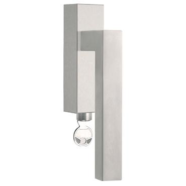 - Cremona de acero inoxidable con cerradura para ventana ISQIDKLOCK