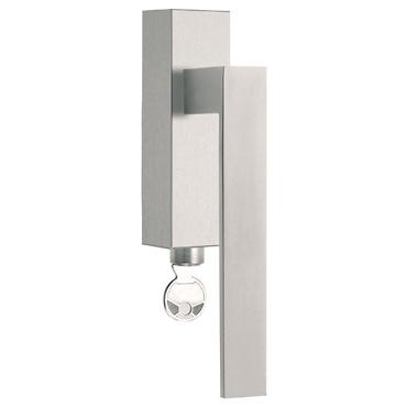 - Cremona de acero inoxidable con cerradura para ventana ISQIIDKLOCK