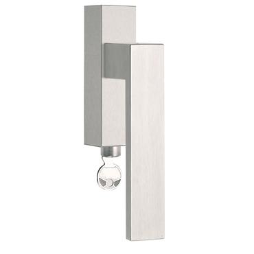 - Cremona de acero inoxidable con cerradura para ventana ISQIVDKLOCK