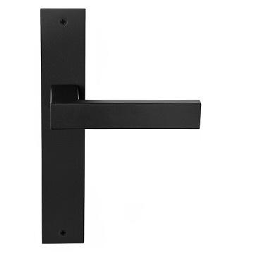 Manivela de placa inox macizo serie Square, de Formani, maneta plana.