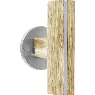 Manivelas verticales Two by Piet Boon madera y acero con roseta de 50