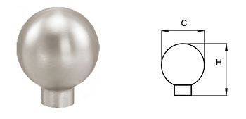 Tirador bola de acero inoxidable modelo 8003