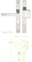 -  Placa escudo de cerradura con manivela LSQII con ranura giratoria