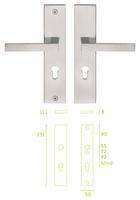 -  Placa escudo de cerradura con manivelas LSQII Pera