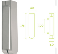Aldaba puerta serie inox Basisc de Formani mod LB39