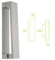 Aldaba puerta serie inox Square de Formani mod LSQ175.