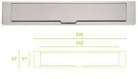 Boca de buzón serie inox Square modelo lsq380 de Formani.
