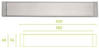 Boca de buzón serie inox Square modelo lsq380BI de Formani.