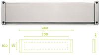 Boca de buzón serie inox Square modelo  lsq620BI de Formani.