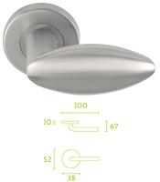 Juego de manivelas inox macizas con diseño esferico de primera calidad