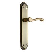 Manivela de placa para puerta mod 26, cuero satinado.
