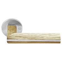 Manivelas Two by Piet Boon madera y acero con roseta de 50