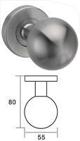 Pomo de puerta con bola de acero inoxidable hueca de diametro 55.