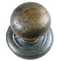 Pomo de puerta de entrada de laton envejecido de bola de 65 mm.