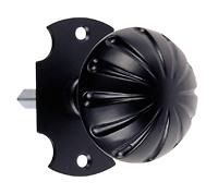 Pomo giratorio de hierro negro, con giro libre.
